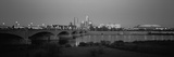 Bridge over a River with Skyscrapers in the Background, White River, Indianapolis, Indiana, USA Photographic Print by  Panoramic Images