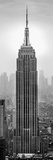 Empire State Building in a City, Manhattan, New York City, New York State, USA Fotografisk tryk af Panoramic Images,