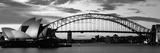 Broen over havnen i Sydney ved solnedgang, Sydney, Australien Fotografisk tryk