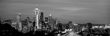 Skyscrapers in a City Lit Up at Night, Space Needle, Seattle, King County, Washington State, USA Photographic Print by  Panoramic Images
