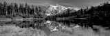 Reflection of Mountains in a Lake, Mt Shuksan, Picture Lake, North Cascades National Park Lámina fotográfica