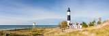 Lighthouse on the Coast, Big Sable Point Lighthouse, Lake Michigan, Ludington, Mason County Lámina fotográfica por Panoramic Images,