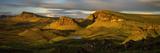Trotternish Ridge in Morning Light, Isle of Skye, Scotland Fotografisk trykk