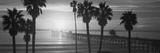 Silhouette of a Pier, San Clemente Pier, Los Angeles County, California, USA Reproduction photographique
