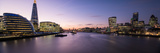 View of the Shard and City Hall from Tower Bridge, Southwark, London, England Lámina fotográfica por Panoramic Images,