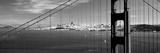 Suspension Bridge with a City in the Background, Golden Gate Bridge, San Francisco, California, USA Photographic Print