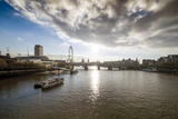 The River Thames Looking West from Waterloo Bridge, London, England, United Kingdom, Europe Photographic Print by Howard Kingsnorth
