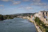 View over People Kayaking in Rio San Juan and the City of Matanzas, Cuba, West Indies Photographic Print by Yadid Levy