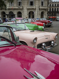 Vintage American Cars, Havana, Cuba, West Indies, Caribbean, Central America Photographic Print by Yadid Levy