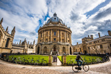 Radcliffe Camera with Cyclist, Oxford, Oxfordshire, England, United Kingdom, Europe Fotoprint van John Alexander