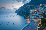 View over Positano, Costiera Amalfitana (Amalfi Coast), UNESCO World Heritage Site Fotografisk trykk av Frank Fell