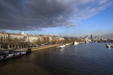 The River Thames Looking East from Waterloo Bridge, London, England, United Kingdom, Europe Photographic Print by Howard Kingsnorth