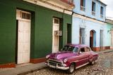 Old American Vintage Car, Trinidad, Sancti Spiritus Province, Cuba, West Indies Photographic Print by Yadid Levy