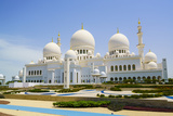 Sheikh Zayed Grand Mosque, Abu Dhabi, United Arab Emirates, Middle East Fotografisk trykk av Fraser Hall