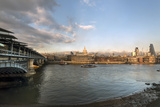 The River Thames and St. Paul's Cathedral Looking North from the South Bank, London, England Photographic Print by Howard Kingsnorth