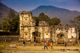 Kids Playing Soccer at Ruins in Antigua, Guatemala, Central America Reproduction photographique par Laura Grier