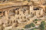 Anasazi Ruins, Cliff Palace, Dating from Between 600 Ad and 1300 Ad Lámina fotográfica por Richard Maschmeyer