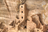 Anasazi Ruins, Square Tower House, Dating from Between 600 Ad and 1300 Ad Lámina fotográfica por Richard Maschmeyer