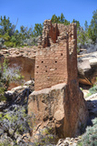 Ruins of Ancestral Puebloans, Square Tower, Dating from Between 900 Ad and 1200 Ad Fotografie-Druck von Richard Maschmeyer