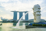 Merlion Statue, the National Symbol of Singapore and its Most Famous Landmark, Merlion Park Photographic Print by Fraser Hall