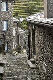 Cobbled Streets and Granite Houses in Medieval Village of Piodao in Serra Da Estrela Mountains Photographic Print by Alex Robinson