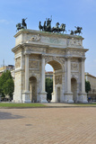 Arco Della Pace, Piazza Sempione, Milan, Lombardy, Italy, Europe Photographic Print by Peter Richardson