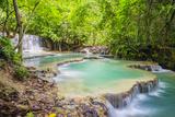 Kuang Si Falls (Tat Kuang Si) Waterfall, Louangphabang Province, Laos, Indochina, Southeast Asia Photographic Print by Jason Langley