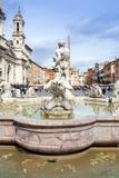 The Moor Fountain (Fontana Del Moro), Piazza Navona, UNESCO World Heritage Site, Rome, Lazio Photographic Print by Nico Tondini