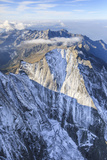 Aerial View of the North Face of Piz Badile Located Between Masino and Bregaglia Valley Impressão fotográfica por Roberto Moiola