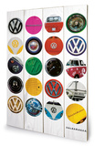 VW Collage Wood Sign