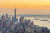 Manhattan, Lower Manhattan and Downtown, World Trade Center Reproduction photographique par Alan Copson