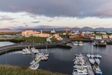 The Harbor Town of Stykkisholmur as Seen from Small Island of Stykkia on Snaefellsnes Peninsula Photographic Print by Michael Nolan