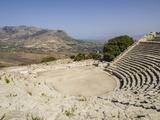 Ampitheatre, Segesta, Sicily, Italy, Europe Reproduction photographique par Jean Brooks