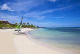 Catamarans on Playa Guardalvaca, Holguin Province, Cuba, West Indies, Caribbean, Central America Photographic Print by Jane Sweeney