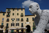 Plaza Anfiteatro, Lucca, Tuscany, Italy, Europe Photographic Print by James Strachan