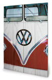 VW Red Wood Sign