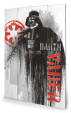 Star Wars Rogue One - Darth Vader Grunge Targa di legno