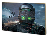 Star Wars Rogue One - Death Trooper Glow Wood Sign