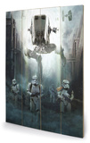 Star Wars Rogue One - Stormtrooper Patrol Holzschild