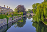 Clare and King's College Bridges over River Cam, the Backs, Cambridge, Cambridgeshire, England Photographic Print by Alan Copson