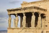 Porch of the Maidens (Caryatids), Erechtheion, Acropolis, UNESCO World Heritage Site, Athens Fotografisk tryk af Eleanor Scriven