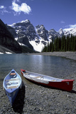 Canoes on the Shore of Moraine Lake, Banff National Park, Alberta, Canada Photo by Natalie Tepper
