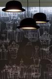 Bowler Hats as Light Fittings Foto von David Barbour