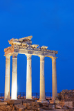 Turkey, Mediterranean Region, Turquoise Coast, Lycia, Side, 2nd Century Temple of Apollo and Athena Fotografisk tryk af Christian Kober