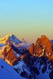 Europe, France, Haute Savoie, Rhone Alps, Chamonix, Grand Combin and the Matterhorn in Switzerland Photographic Print by Christian Kober