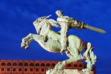 Eurasia, Caucasus Region, Armenia, Yerevan, Train Station Square, Statue of Sasuntsi David Photographic Print by Christian Kober