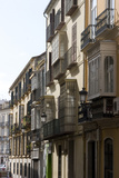 Balconies Overlooking the Narrow Streets of Malaga, Andalucia, Spain Foto von Natalie Tepper