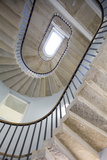 Low Angle View of Stone Staircase with Handrail, UK Foto von David Barbour