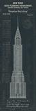 Chrysler Building Plan Reproduction procédé giclée par  The Vintage Collection