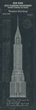Chrysler Building Plan Giclee Print by  The Vintage Collection